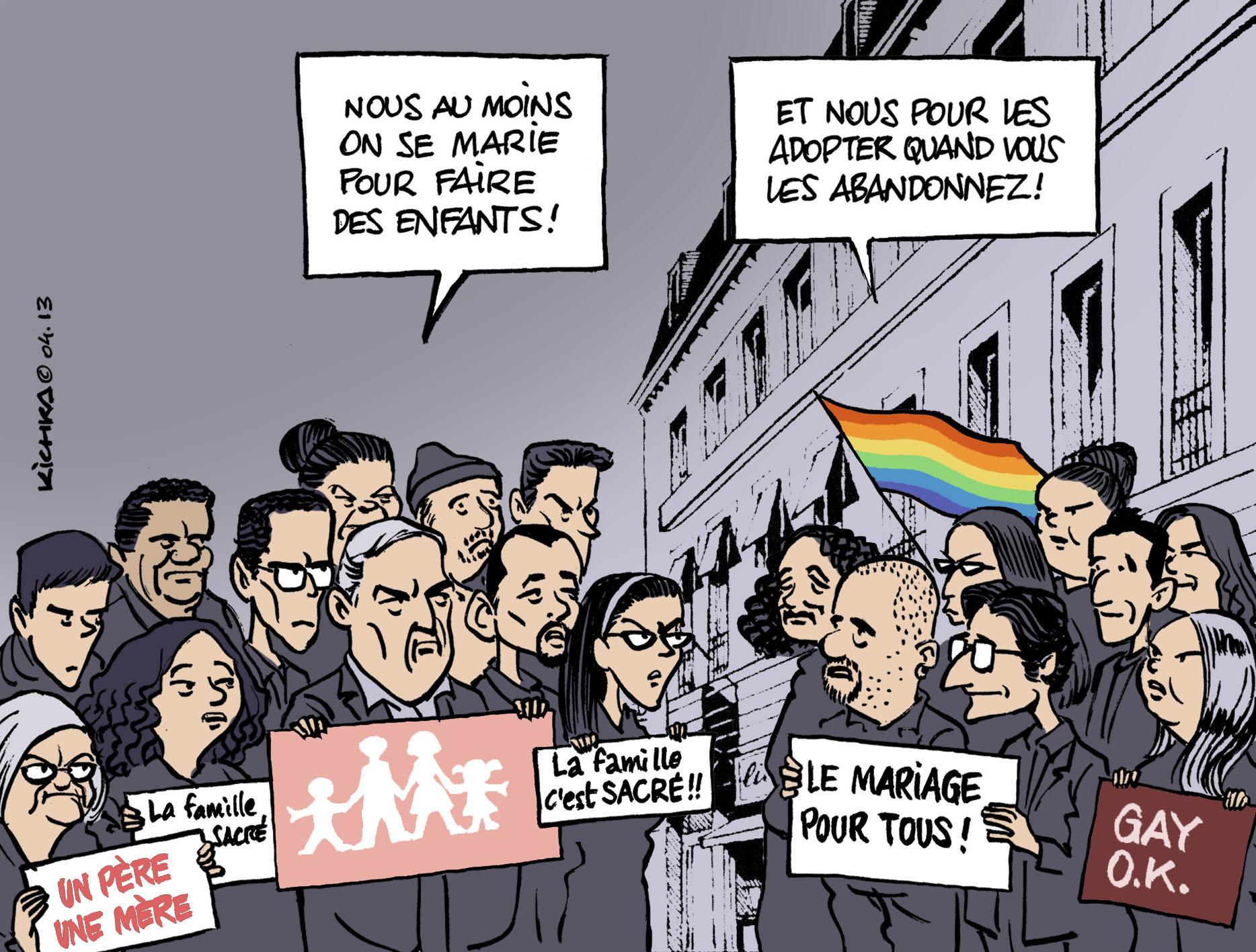 Mariage Pour Tous Vote Michel Kichka