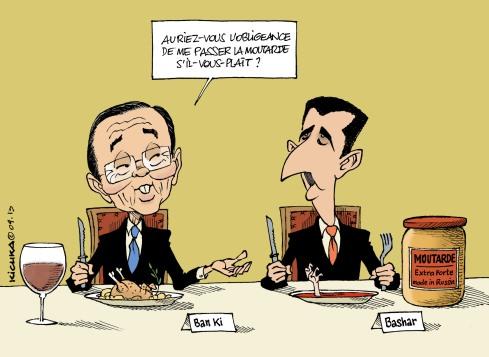 Assad avec Ban Ki Moon