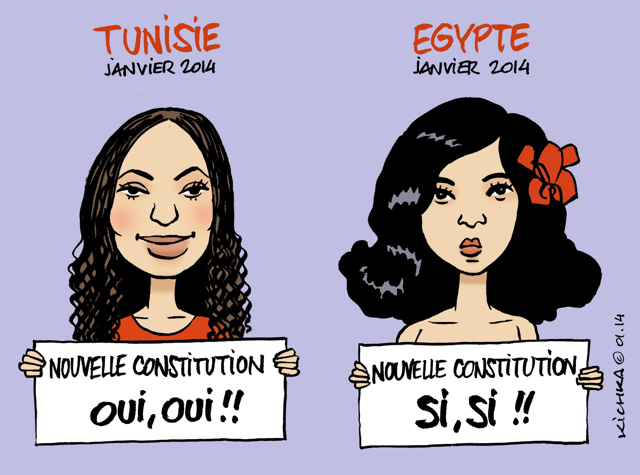 Tunisie Et Egypte Nouvelles Constitutions Michel Kichka