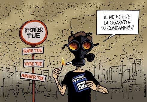 Pollution de l'air tue