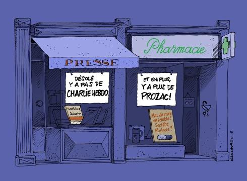 Charlie Hebdo et Prozac