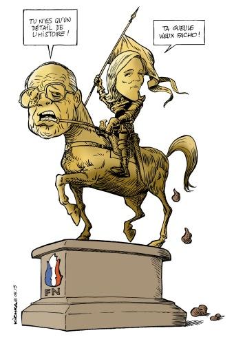 Le Pen père et fille 2015