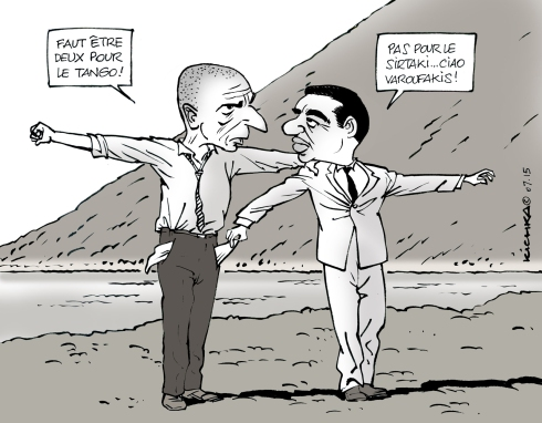 Tsipras ciao Varoufakis