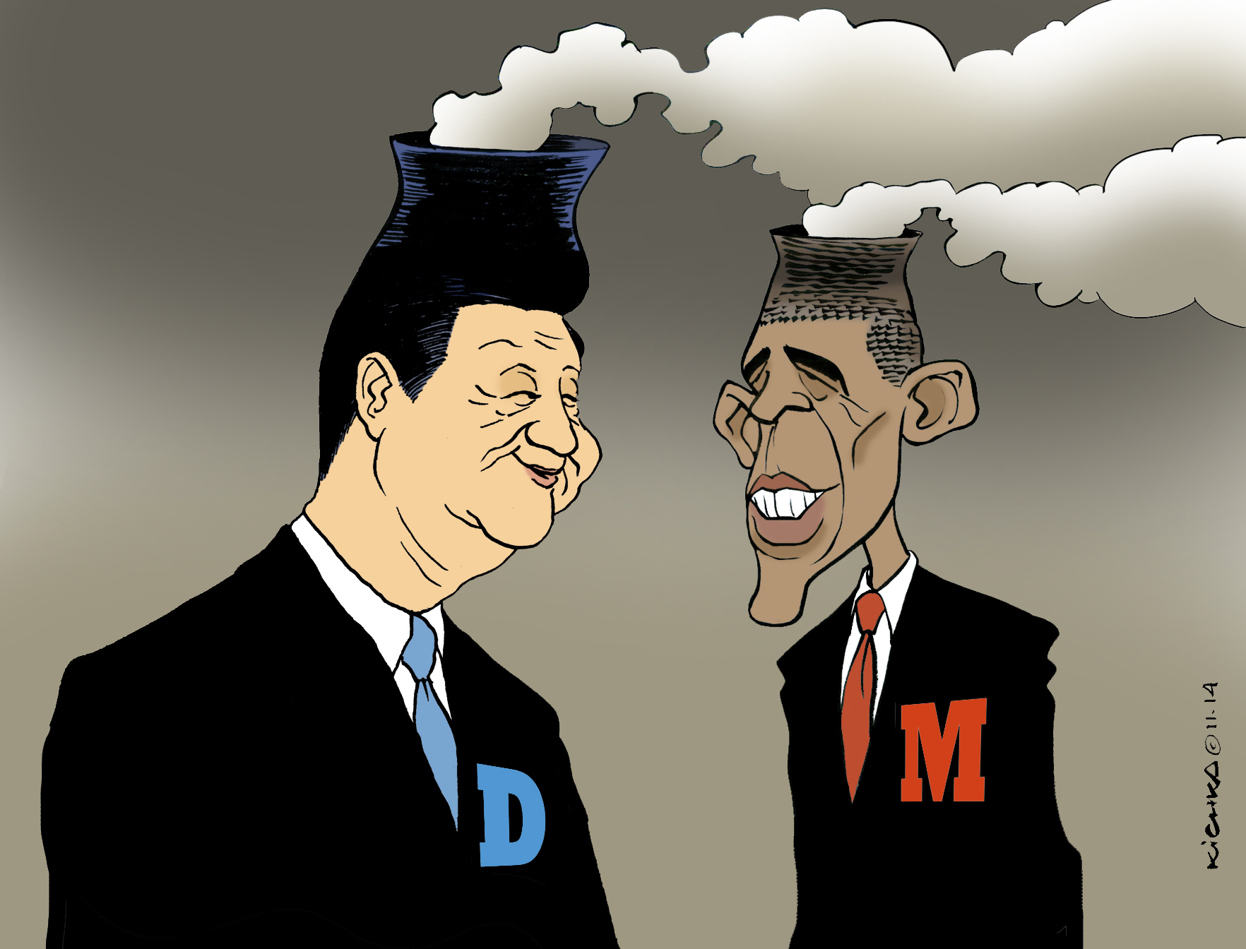 Obama et Xi Jinping couteaux tir s