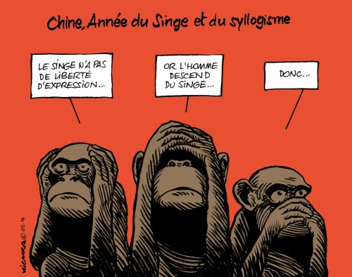 Chine année du singe