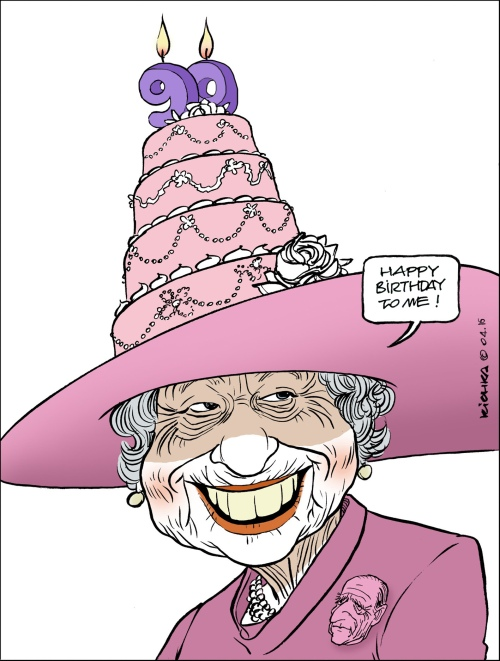 Queen Elizabeth 90 ans