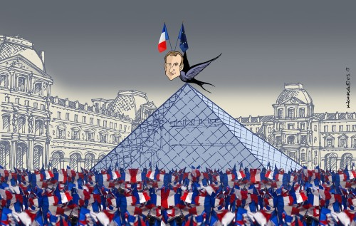 Macron au Louvre