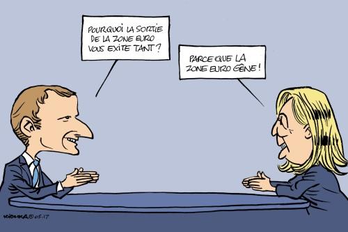 Macron Le Pen débat2