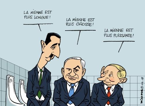 Assad Bibi Poutine 2018