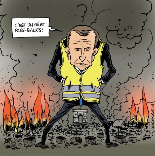 Macron gilet jaune